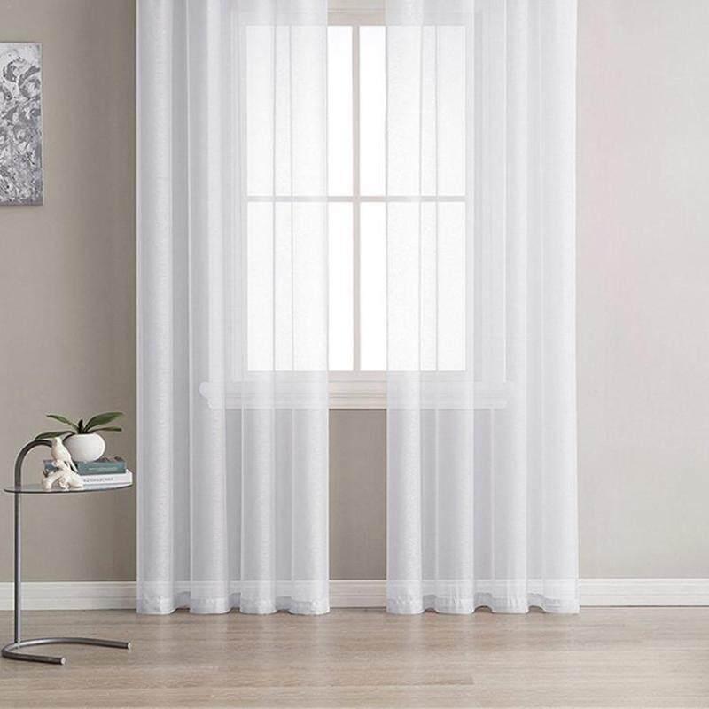 Zloyu 1 cái rèm tinh khiết Phong Cách Châu Âu mùa hè trang trí nội thất rèm cửa Cửa Sổ Phòng 140cm x 240cm