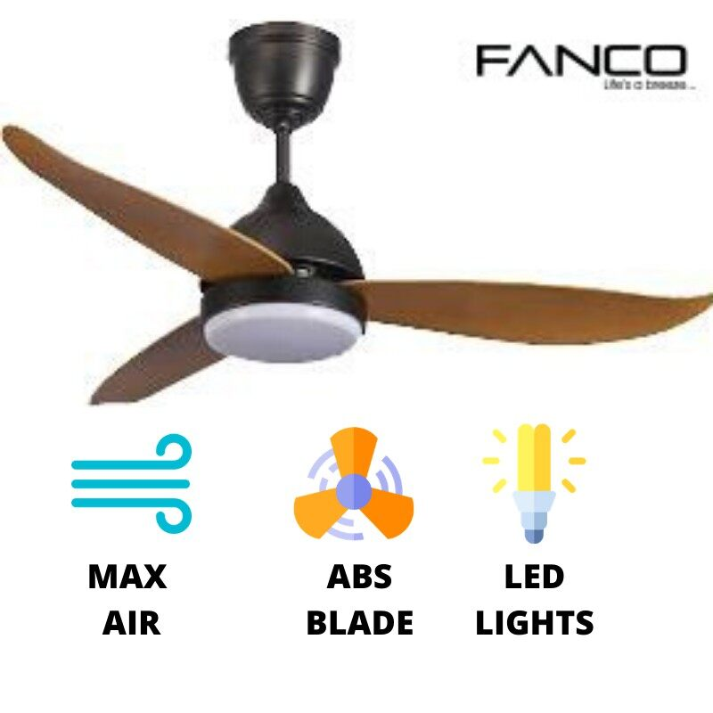 Fanco Arte High Turn Speed Max Air Ceiling Fan with LED Lights (colour:Pine)