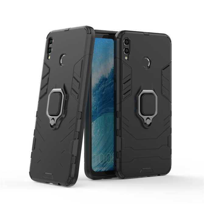 For Vivo Y71 Armor Hybrid Hard PC + Silicone TPU Shockproof Kickstand Back Case Cover