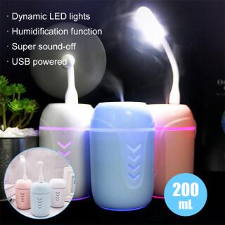 Aijia 200ML 3 Trong 1 Máy Lọc Không Khí Đồng Hồ Nước Tạo Độ Ẩm, Năng Lượng Mini Xe Nhà Văn Phòng LED USB Máy Tạo Độ Ẩm Sương Khuếch Tán Với Fan Câm Ánh Sáng Ban Đêm thumbnail
