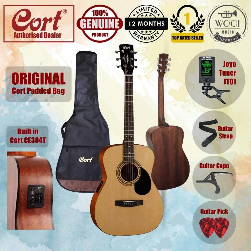 Cort AF510E Acoustic Guitar 40 (Concert) FREE Cort Bag, Joyo Tuner, Capo, Strap & Pick Malaysia