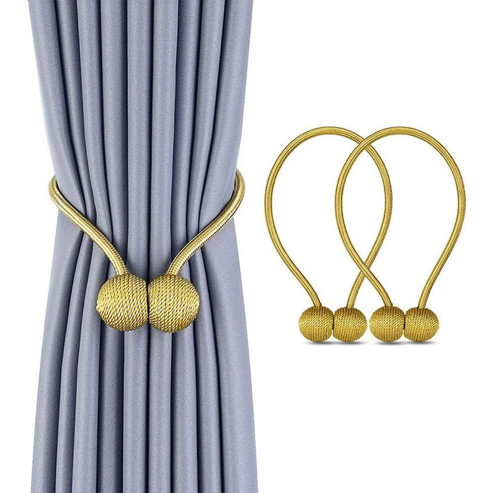 [YP-Judixy Store.MY]Curtain Accessories 2 Pcs Ball Curtain Straps Magnetism Curtain Buckle Tie Rope