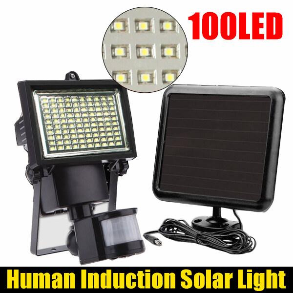 100LED human induction lamp solar light villa courtyard garage road flood light