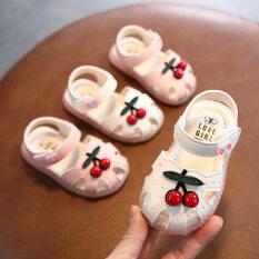 I Love Daddy&Mummy Giày sandal tập đi đính hình trái cherry dễ thương phong cách 2021 cho bé gái – INTL