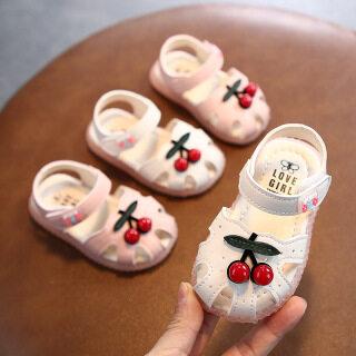 I Love Daddy&Mummy Mùa Hè Trẻ Em Phim Hoạt Hình Dép Bé Gái Cherry Dép Xăng Đan Đế Mềm Giày Công Chúa Cho Trẻ Em thumbnail