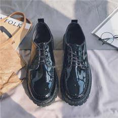 Giày da nam cột dây phong cách thời trang Hàn Quốc đơn dành cho sinh viên trẻ trung, năng động thích hợp mang hàng ngày, thoải mái, thoáng khí