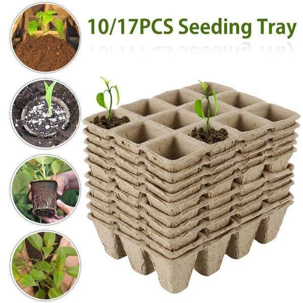 Starter Seedling Boxs 10/17Pcs Cells Seed Plant Seedling Pots Trays Maker Biodegradable Boxs Starter