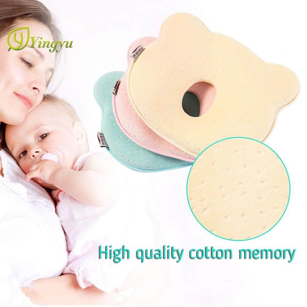 9846e4835beb Baby Cot Pillow Soft Cut Preventing Flat Head Neck Syndrome Plagiocephaly