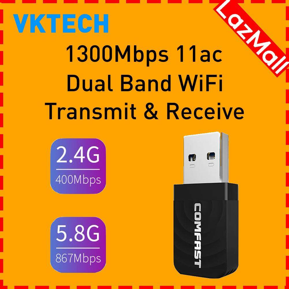 COMFAST USB 3.0 Wireless Network Card 1300Mbps WiFi Dongle Adapter 802.11 b//g//n