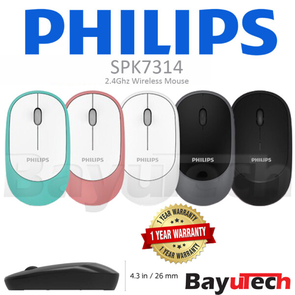Philips M314 (SPK7314) Wireless Mouse 1200DPI for Laptop PC or Office  Quiet & Slim Design W/High-Performance Optical Sensor Malaysia