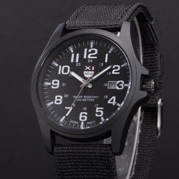 Mens Date Stainless Steel Military Sports Analog Quartz Army Wrist Watch BK Malaysia