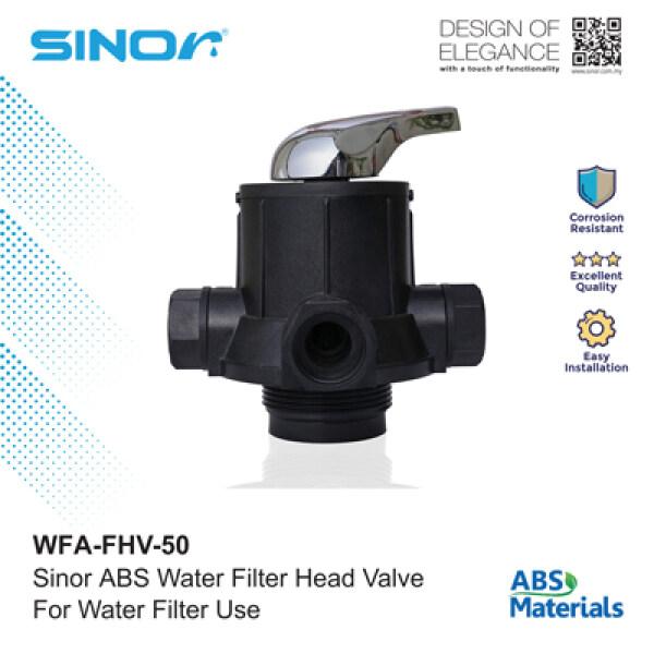 Sinor WFA-FHV-50 ABS Water Filter Head Valve
