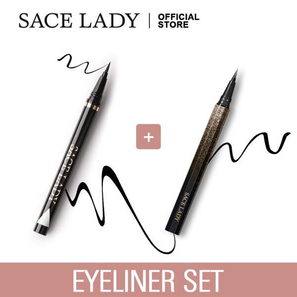 2 Bút kẻ mắt nước SACE LADY màu đen chống thấm nước lâu trôi - INTL giá rẻ