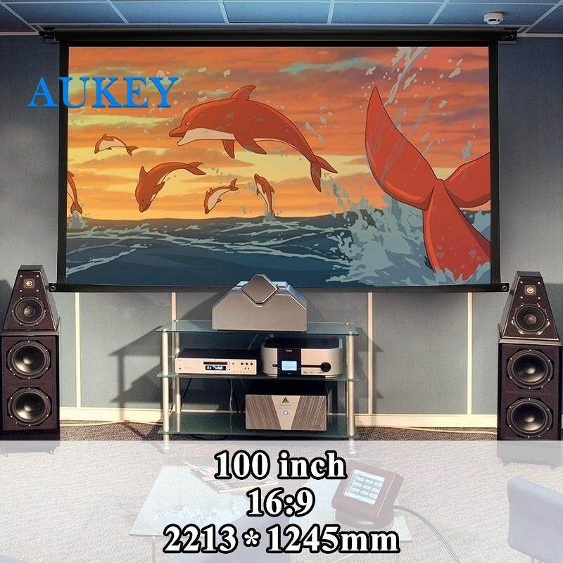 Moviescreen Projection Curtain Projection Screen Soft 16:9 120 Inch School Video Projection Foldable Projector Accessories Home Malaysia