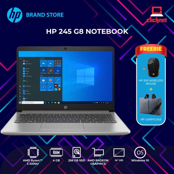 HP 245 G8 Notebook (AMD Ryzen 3, 4 GB, 256 GB SSD, 14 Display, Win10, Silver) Malaysia