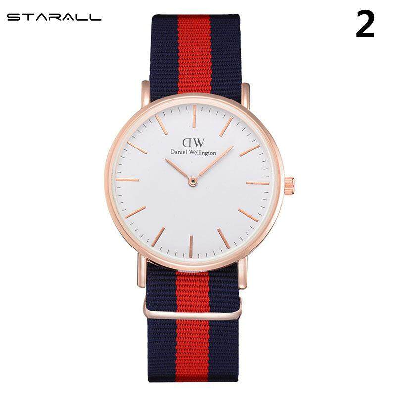StarALL Classic Quartz Wrist Watch Nylon Stripe Band Alloy Case Casual Watch Malaysia