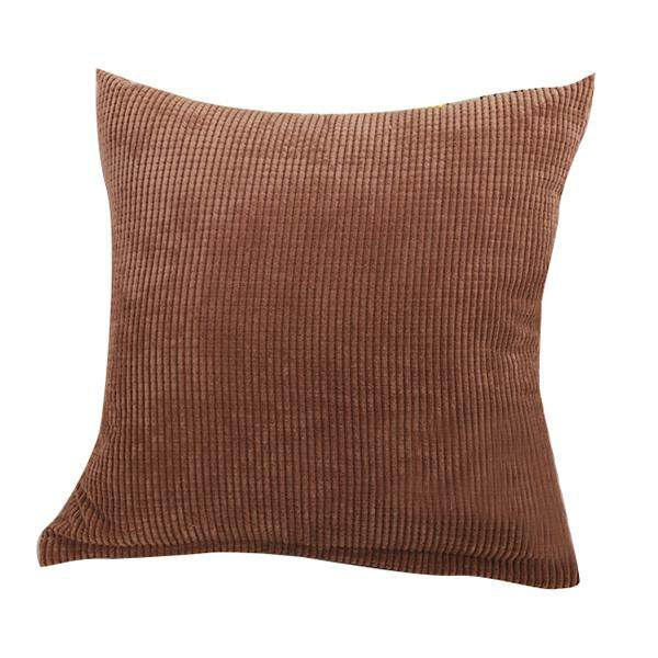 Corn Kernels Wick Cotton Square Home Decor Throw Sofa Car Cushion Cover Pillow Case 55*55cm Brown By Rainning.