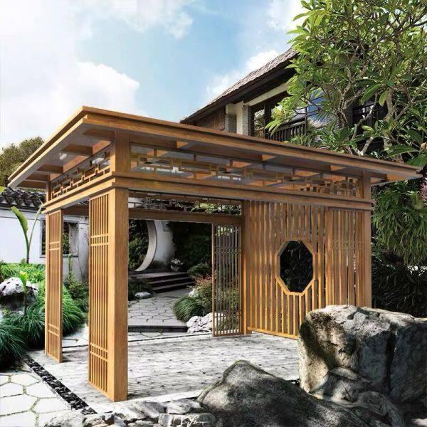 Aluminium Alloy Gazebo Outdoor Gazebo Halaman Rumah Pavilion Lapang a Cina Baru Gazebo Landscape Garden Promenade Custom