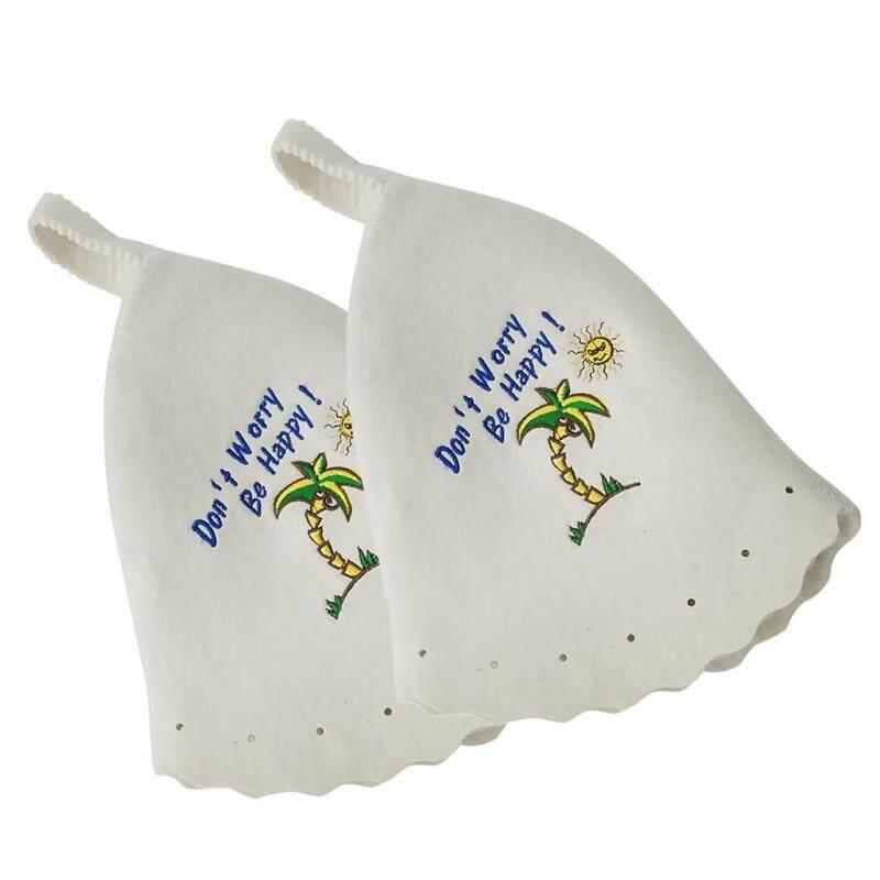 Mũ Nỉ Tắm Hơi Blesiya 2X100% Mũ Lưỡi Trai 33X30X1Cm Cho Nga Banya Sauna Hut #5