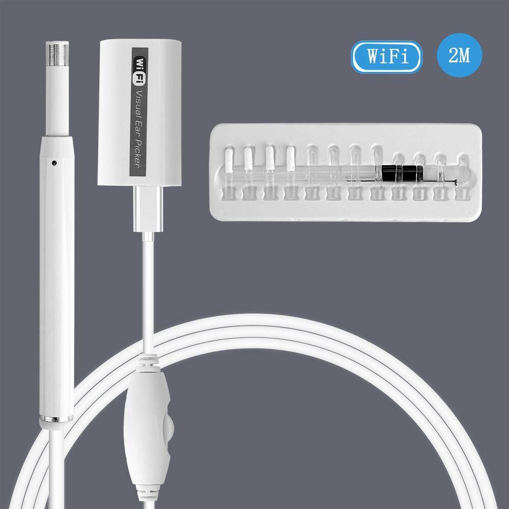 Wifi Camera Nội Soi Vệ Sinh Tai Earpick Camera 5.5mm 720P Ống Kính Hình Ảnh Không Dây Otoscope Cho IOS/MAC/Windows /PC Với 6 Đèn LED