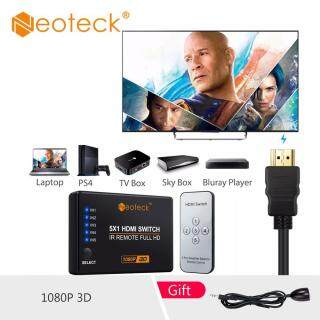 Neoteck 4K 1080P 5 Port HDMI Switch Splitter Hub HDMI Switcher 5 Input 1 Output 4K 3D HDMI Splitter Box with IR Remote Control thumbnail