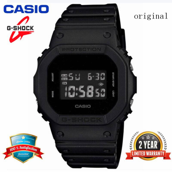 (In Stock) Original G Shock DW 5600BB-1 Sport Digital Watch 200M Water Resistant Shockproof and Waterproof World Time LED Light Wrist Sports Watch with 2 Year Warranty DW5600/DW 5600 Black Malaysia
