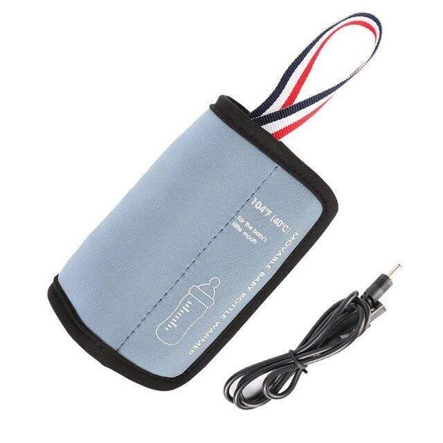 เครื่องอุ่นขวดนม Thermostat รถ USB อุ่นกลางแจ้งแบบพกพาที่ทำให้อุ่นแบบพกพาที่อุ่นขวดน้ำเด็กไม่มีที่ชาร์จ