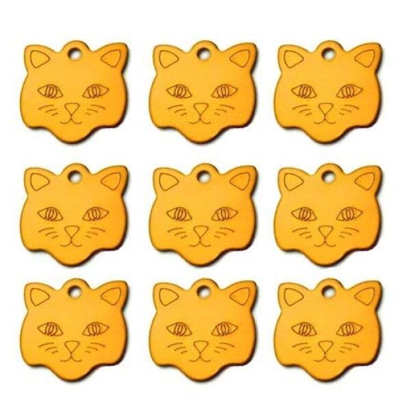 Bán Sỉ 100 Thẻ ID Chó Cá Nhân Hình Mặt Mèo Tên Pet Tag Tên Cá Nhân Cho Chó Mèo Khắc Tùy Chỉnh Số Thẻ ID