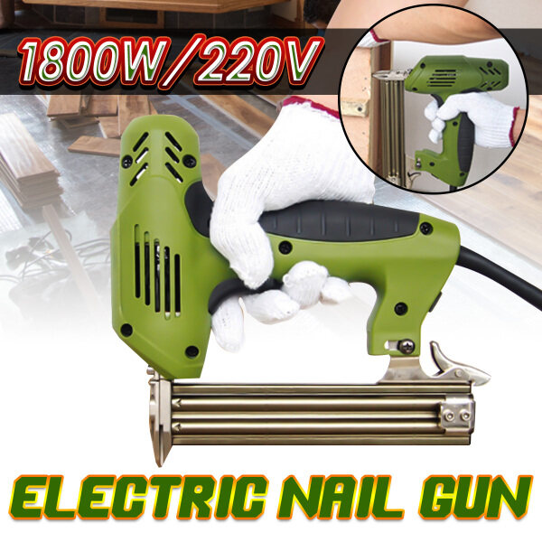 Blue 2000W 220V Electric Straight Nail Tool Heavy Duty Woodworking Staple Wood