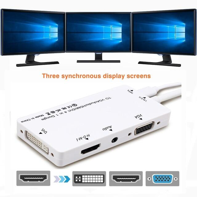 Bộ Chia Tương Thích HDMI Sang Cáp Âm Thanh Và Video VGA DVI H-d-m-i Bộ Chuyển Đổi Đa Cổng, 4in1 Chuyển Đổi Cho PS3 Hdtv Màn Hình Máy Tính Xách Tay