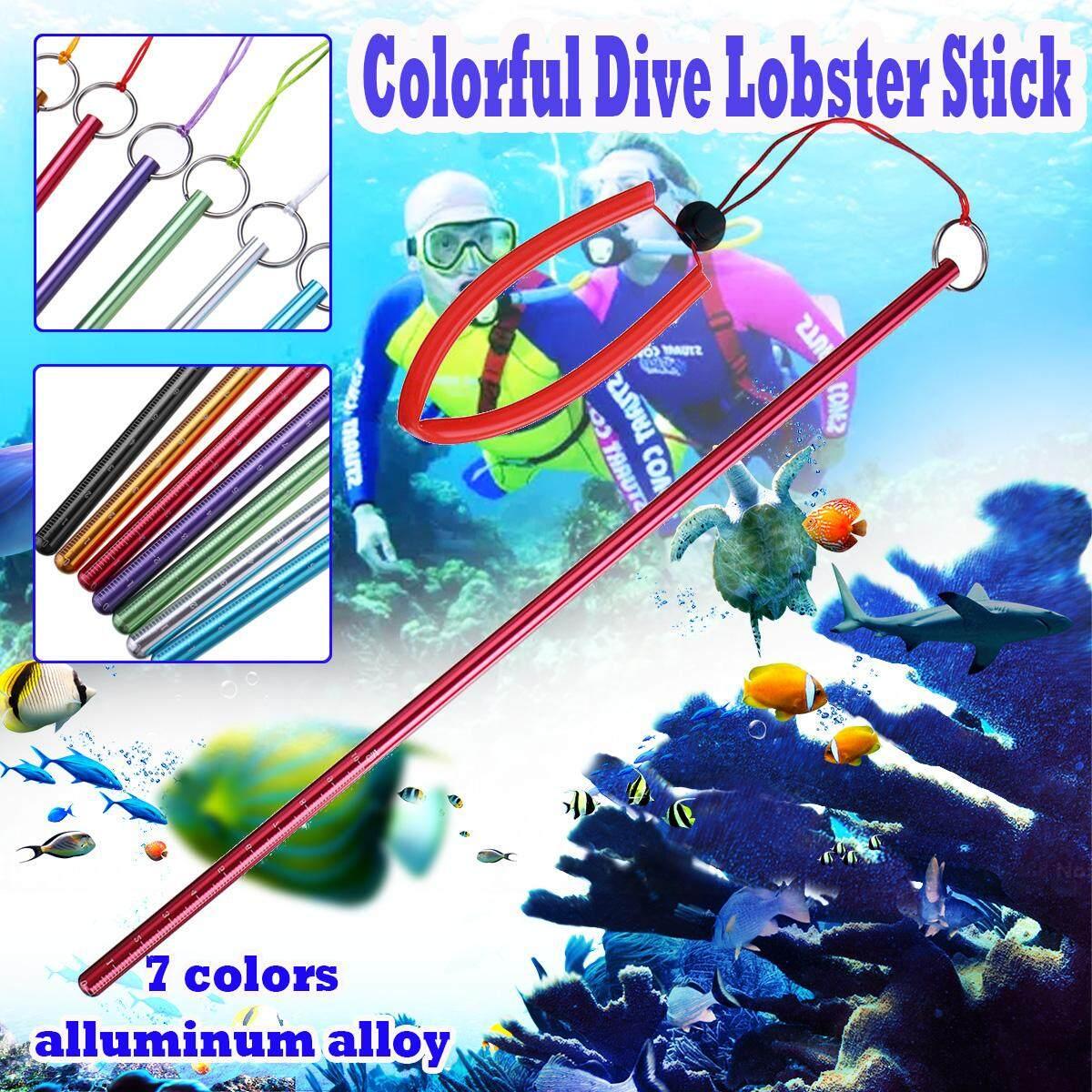 Aluminum Alloy Scuba Rod Diving Lobster Stick Pointer Underwater Lanyard