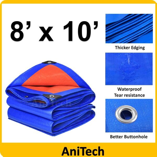 ANITECH KOREA Blue Orange Water Resistance Waterproof Flexible Sheet Canvas Tarpaulin  Sheet Canvas Ready Made Blue Orange (  6 x 9 6 x 12 8 x 10 8 x 12 8 x 15 9 x 15 9 x 18 10 x 12 10 x 15 12 x 15 15 x 18 15 x 20  )