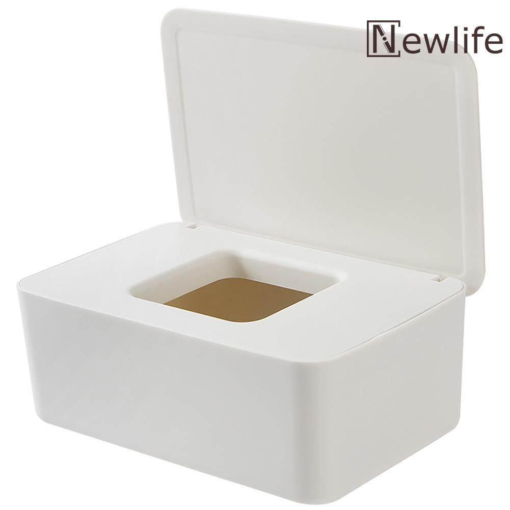Plastic Wet Wipes Dispenser Dustproof Tissue Storage Box Holder with Lid