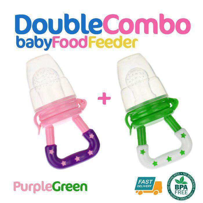 Double Combo Mesh Silicone Baby Fruit Food Feeder Baby Feeding Fruit Vegetable Bite Pacifier Baby Nipple By Akutrader Enterprise.