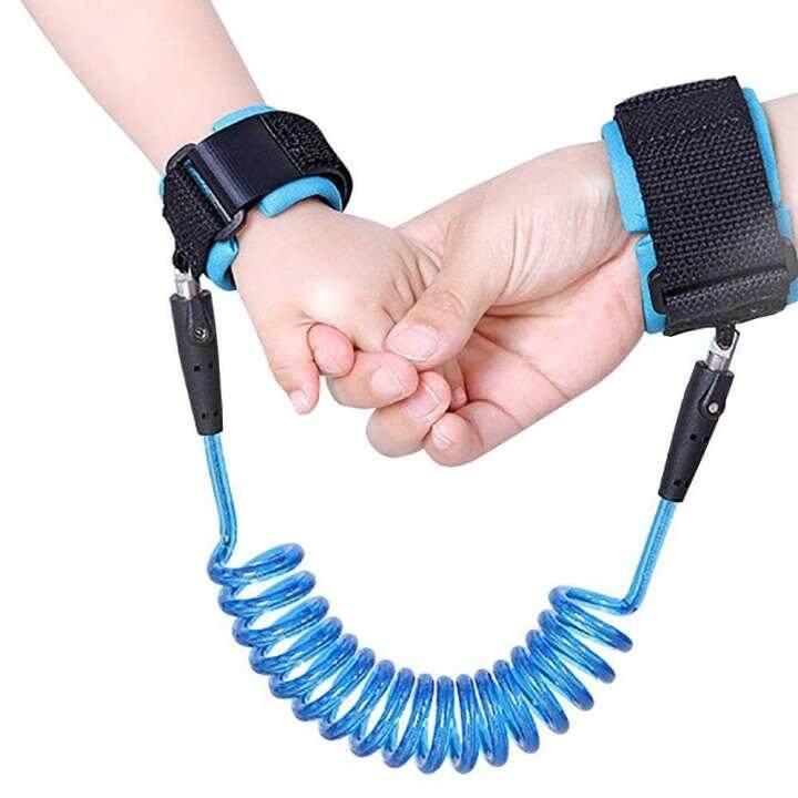 1.5M Adjustable Kids Safety Anti-lost Wrist Band Toddler Harness Leash Strap - [Sky Blue]