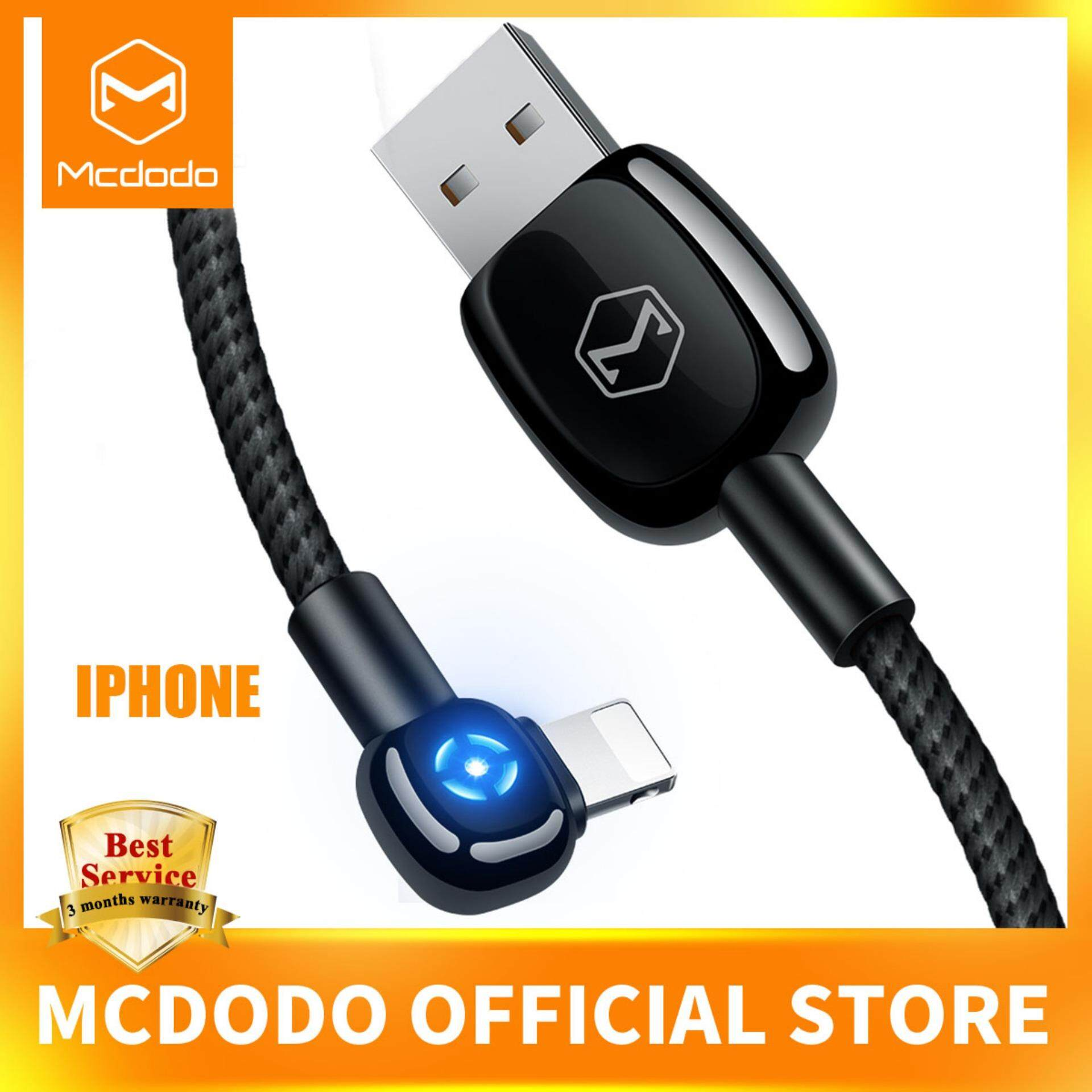 6393ca8ecd7 Mcdodo Auto Disconnect LED Light For iPhone Charger Cable USB Cord Fast  Charging Data Cable For
