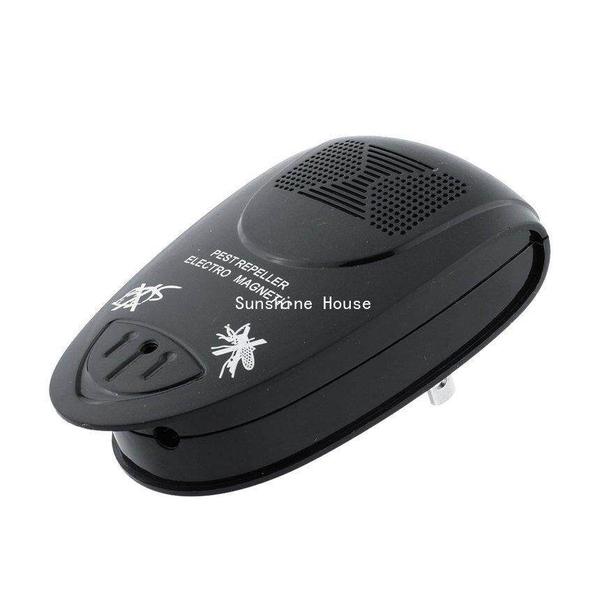 SUN Electronic Ultrasonic Control Pest Insect Snake Repeller Plug (Black)