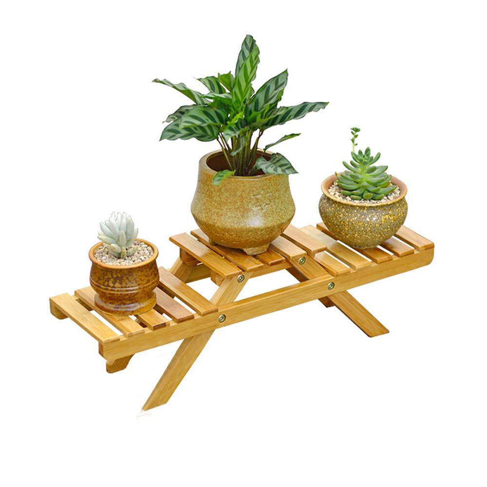 [Easybuy88] 3-Tier Foldable Flower Stand Succulents Plant Bonsai Shelf Home Decor Balcony Flowerpot Shelf