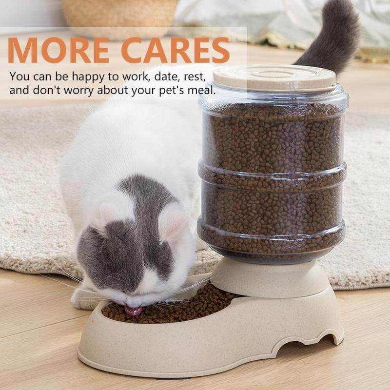 3.75L Tự Động Trọng Lực Dụng Cụ Cho Ăn Thức Ăn Chó Mèo Bát Thức Ăn Vật Nuôi Dung Tích Lớn Vật Định Lượng Thức Ăn Cho Mèo Cưng Con Chó