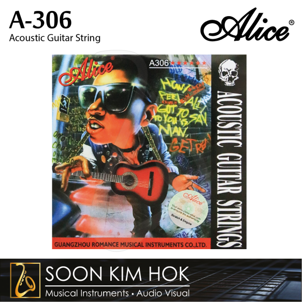 ALICE A-306 Acoustic Guitar String (.011 / .015 / .024 / .032 / .042 / .052) (A306) Malaysia