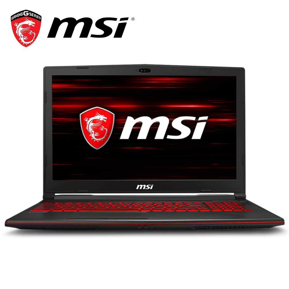 MSI GL63 8RD-829 15.6 FHD Gaming Laptop Black (i7-8750H, 8GB, 1TB+128GB, GTX1050Ti 4GB, W10) Malaysia