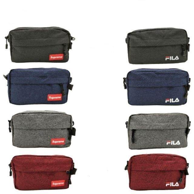 a6eb29ace4 HOT SellingFILA / SUPREME Shoulder Sling bag Canvas Handcarry Clutch Unisex