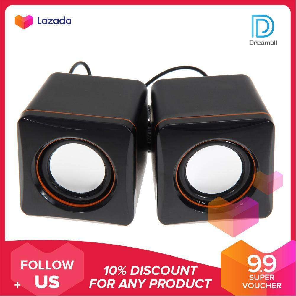 {9.9 Hot Sale Festival}Dreamall USB 3.5mm Stereo Mini Speaker Subwoofer Laptop Notebook Tablet Malaysia