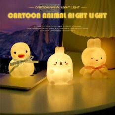 Houseeker sạc USB phim hoạt hình gấu thỏ Đèn ngủ điều khiển từ xa đầu giường Kid Gift Lamp
