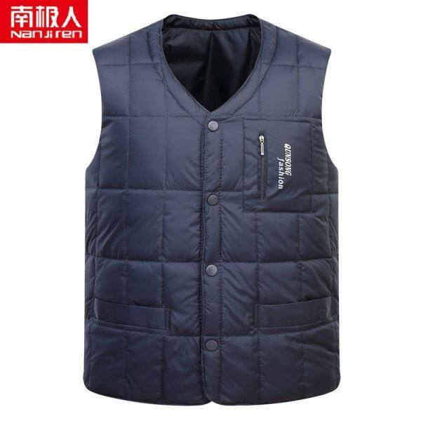 Valazo Antarctic down vest middle-aged and elderly thickened liner male waistcoat father warm vest down jacket large size vest