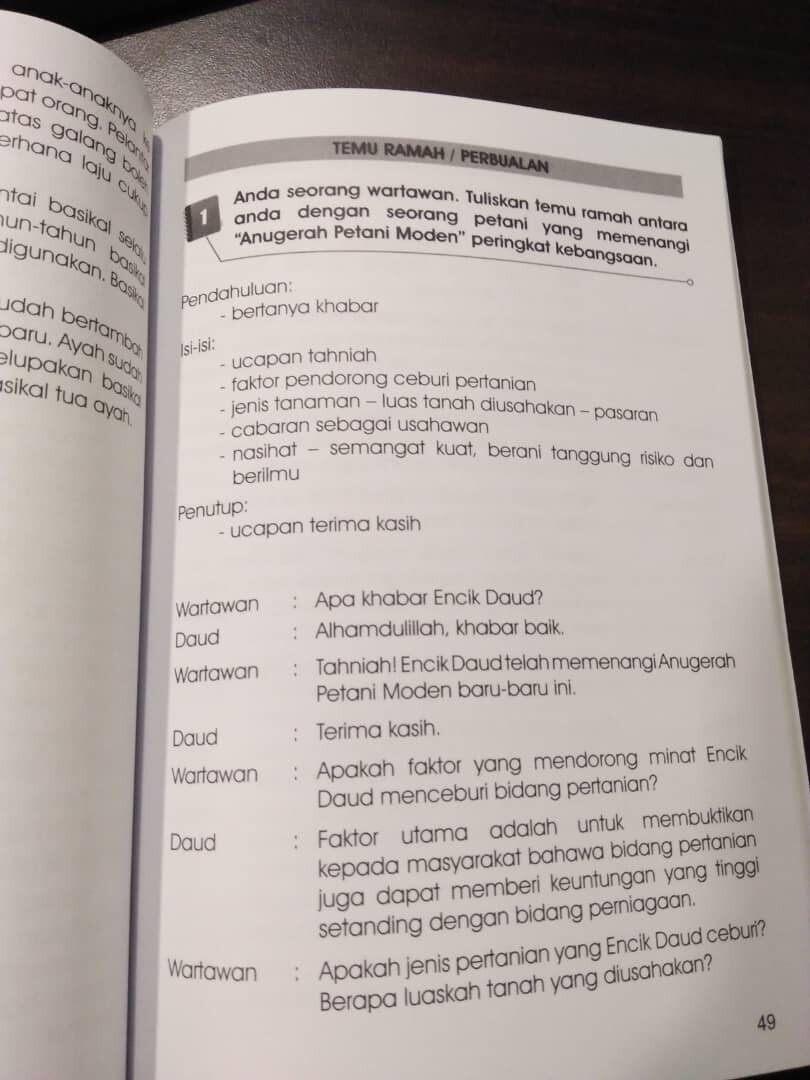 Teknik Penulisan Upsr Tahun 4 5 6 Bina Ayat Tulis Karangan Ready Stock Lazada