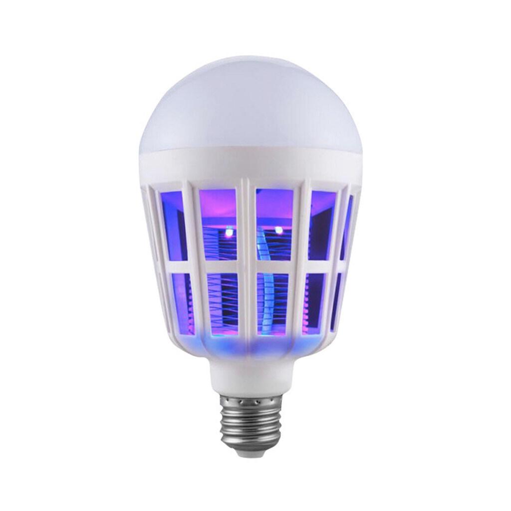 Nyamuk Pembunuh Lampu LED (1 Pack) 2-In-1 Anti Nyamuk Lampu Outdoor Indoor untuk Gym Halaman Belakang Teras Tertutup Teras Garasi Gudang baik untuk Wanita dan Bayi, E27 LED Bulb 15W