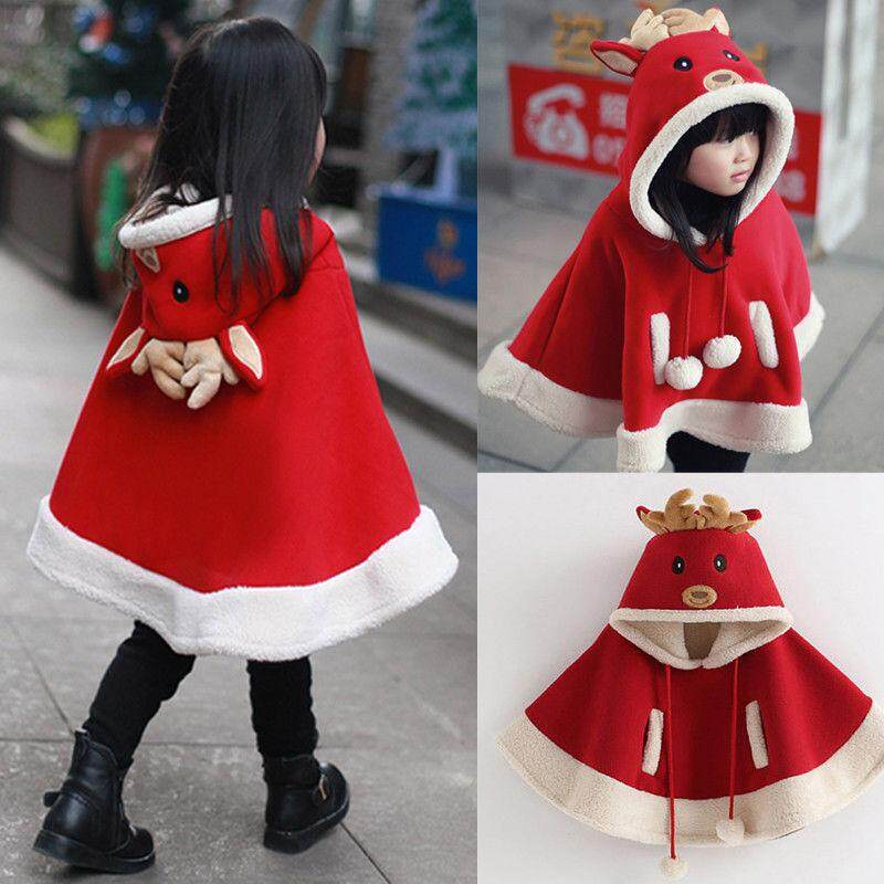 Baby Girl Fleece Cape Coat Cloak Jacket Outerwear Kid Christmas Clothes By Sugarbabies.