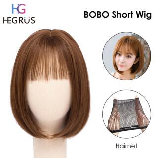 HEGRUS Tóc Giả Nữ Ngắn Tóc Giả Mái Tóc Đẹp Trai BOBO Tóc giả thumbnail