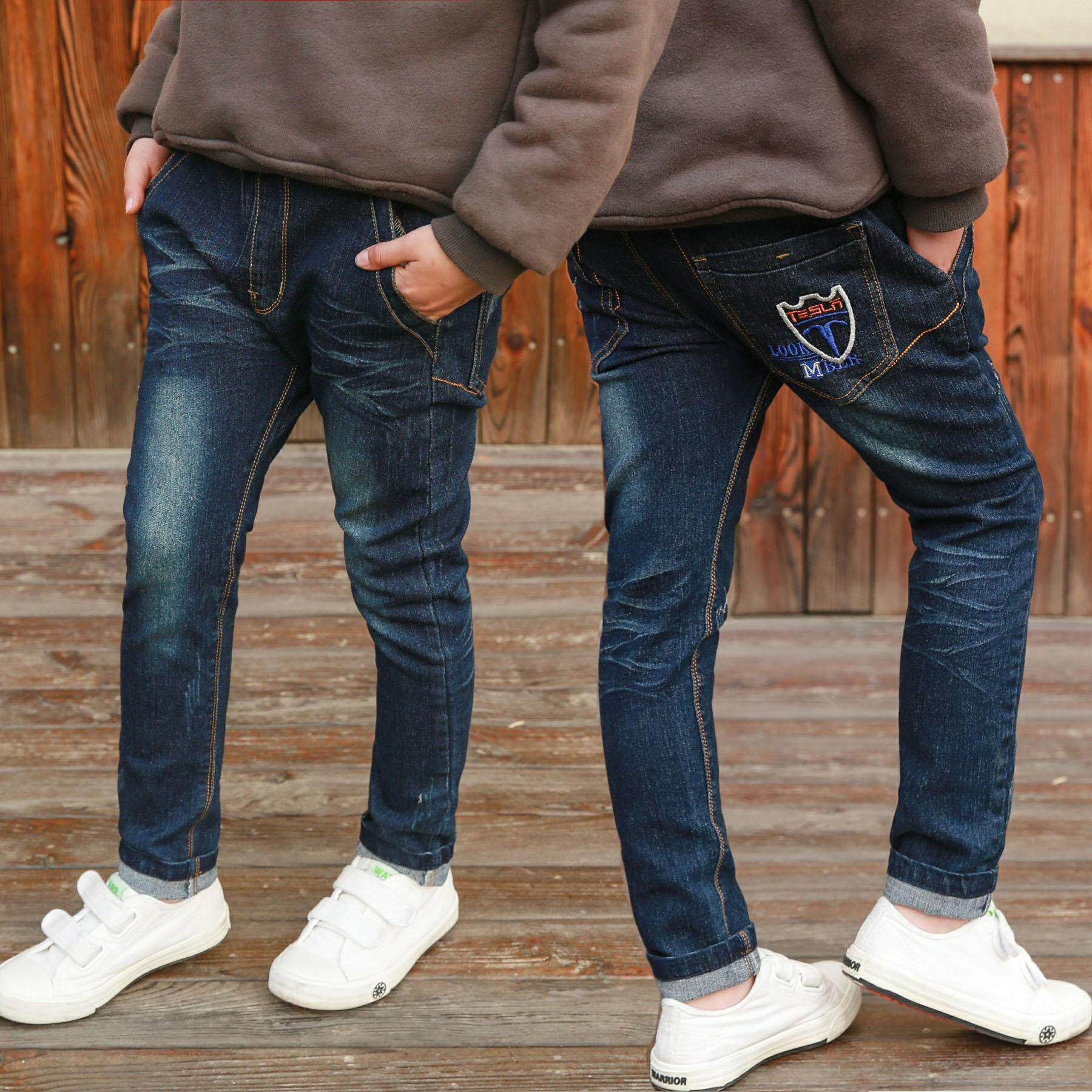113f453dcc52 IENENS 5-9 Years Kids Casual Trousers Clothes Boys Slim Straight Jeans  Young Children Boy